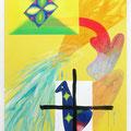 """"""" Memento mori """" 180 x 130 cm, Acrylic on canvas, 2018"""