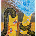 """ She eats twice what I eat. "" 65 x 50 cm, Acrylic on canvas, 2018"