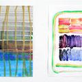""""""" no Title """" 24 x 16 cm, 24 x 16 cm, Acryl auf Papier, 2017"""