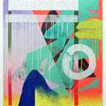 """ Techno shrine "" 100 x 80 cm, Acrylic and mixed Media on canvas, 2018"