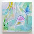 """Bikkuri""     40 x 40 cm, Acrylic on Woodpanel, 2015"