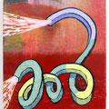 """"""" A Japanese bow """" 30 x 25 cm, Acrylic on canvas, 2018"""
