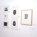 Prints Peter Randall-Page , Ink paintings G Jäggle, Photo Gerold Jäggle