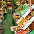 Frisches Gemüse und Früchte
