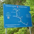 Eurovelo-Übersichtstafel an der Grenze auf kroatischer Seite