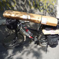 Mit dem Fahrradkarton auf dem Weg zum Flughafen Bukarest.
