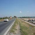 Stadtausfahrt auf dem Trampelpfad in Belgrad, Serbien
