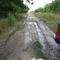 Schlammweg in Serbien