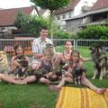 Gruppenbild mit Mama Amy und Celine und Papa Barbossa mit Familie am 07.06.2014