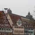 Blick zur Burg in Esslingen