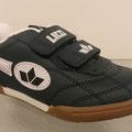 Sportschuh mit Klettverschluss, Gr. 27 - 35, Kunstleder, Farbe: dunkel blau/ weiß kombi, VK 19,95, Meißner Str.
