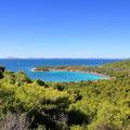 Bucht Kosirina, das Camp und Basis für Tagestouren