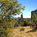 Krka Canyon Wasserfälle, über das Plateau zu den 2 Ruinen