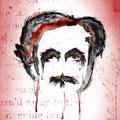 Retrato para ilustrar las obras completas de Edgar Alan Poe