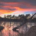 Pfrungener Ried bei Sonnenuntergang