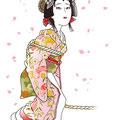歌舞伎 雪姫 イラスト 挿絵 役者絵 大和屋