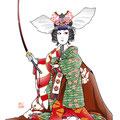 歌舞伎 女暫 イラスト 挿絵 役者絵 巴御前