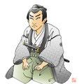 将軍江戸を去る  歌舞伎 イラスト 挿絵 役者絵