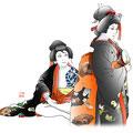歌舞伎 イラスト 挿絵  弁天小僧 菊之助