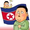 北朝鮮,イラスト
