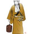 歌舞伎 女殺油地獄 仁左衛門 近松門左衛門 イラスト 挿絵 役者絵