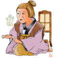 歌舞伎 花車方 お幸 イラスト 挿絵 役者絵 双蝶々曲輪日記 引窓 おばあさん