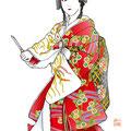 歌舞伎 イラスト 挿絵 役者絵 雲の絶間姫 鳴神 スパイ