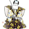 歌舞伎 石切梶原 イラスト 挿絵 役者絵 播磨屋