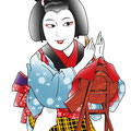 歌舞伎 お光 野崎村 新版歌祭文 しんぱんうたざいもん イラスト 挿絵 役者絵