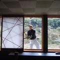 旅館 ガラス・サッシ清掃