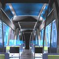 Studie: Straßenbahn (Interieur und Exterieur)