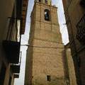 Campanario de la Iglesia de Albalate de Cinca (Huesca). Foto de Internet.