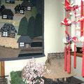 ❁ 絣を使ったキルトと手作りのお飾りと家