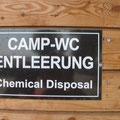 Chemie WC-Entsorgung