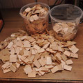 Etwa 1000 Holzschindeln