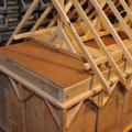 Innendeckel und aufgesetztes Holzdach