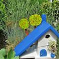 Houten Nestkastje voor Pindakaas pot, Nestkastje, thema, Grieks stijl  blauw-wit, Vogelhuisje bouwen, vogelhuisje pindakaas pot, huisje blauw-wit_8