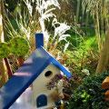 Houten Nestkastje voor Pindakaas pot, Nestkastje, thema, Grieks stijl  blauw-wit, Vogelhuisje bouwen, vogelhuisje pindakaas pot, huisje blauw-wit_2
