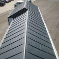 Aluminium Doppelstehfalz anthrazit stucco