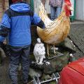 Und grosse Hühner.