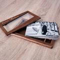 Hochzeitsfotos stilvoll in einer Holzbox aufbewahren
