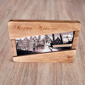 In Deutschland handgefertigte Holzbox für mit Vitrine aus Glas