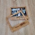 Handgefertigte Holzbox mit Glascover auf Magneten