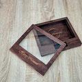 Box aus Holz für Hochzeitsbilder und Foto-Abzüge