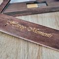 Handgefertigte Holzbox aus Naturholz für meine Familienfotos