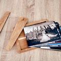 Romantische Holzbox für Fotos von meiner Hochzeit