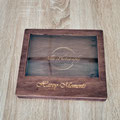 Handgefertigte Holzboxen aus Naturholz für Hochzeitsbilder und USB-Stick