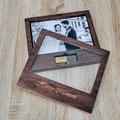 Handgefertigte Holzbox aus Naturholz für meine Fotos