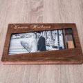 Hochzeit-Holzbox für Fotos und USB_Stick