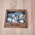 Holzbox für Fotos mit Glascover befestigt mit Magneten